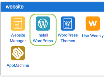 one-click wordpress install from bluehost cpanel