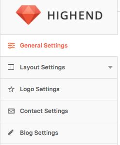 highend wordpress theme customization settings wordpress admin panel