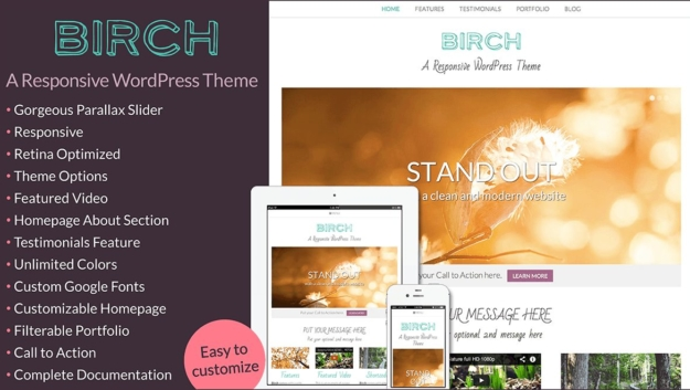 birch premium wordpress theme