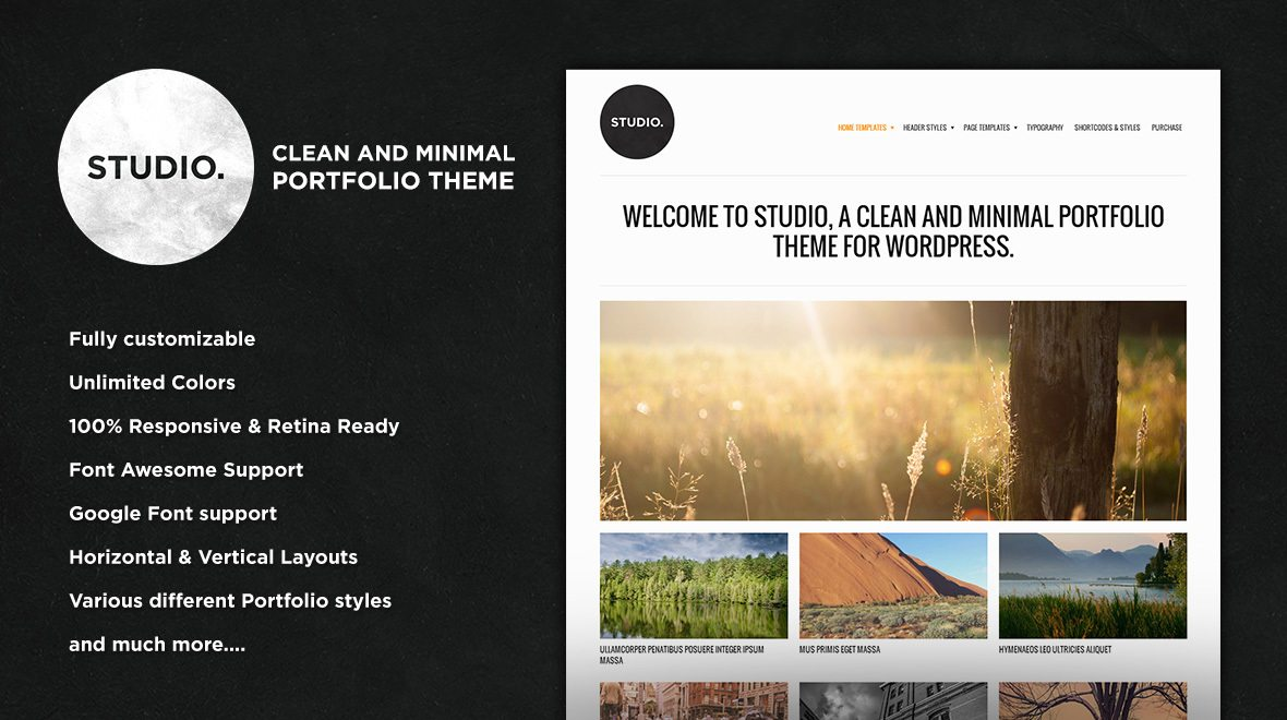 studio wordpress portfolio theme