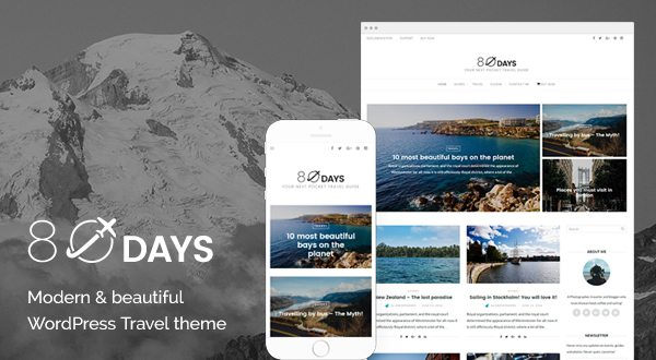 80 Days - Travel WordPress Theme