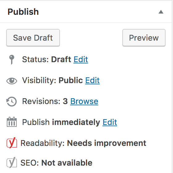 WordPress post publish panel explained