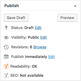 publish panel in WordPress is where you can schedule posts