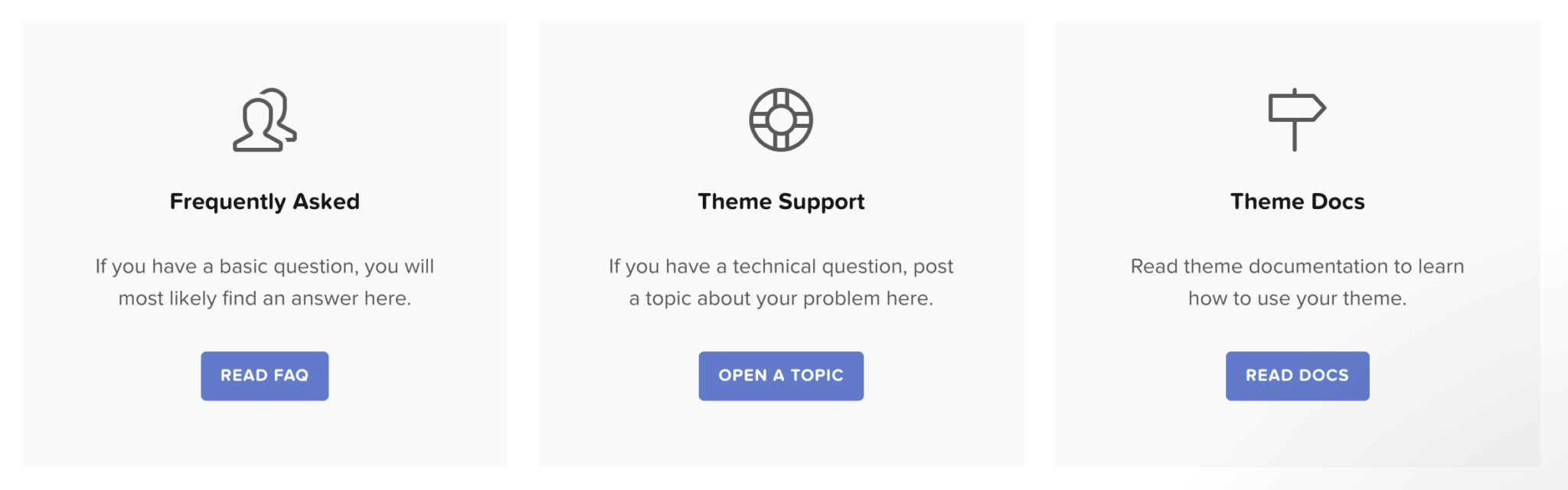 HB themes wordpress theme support page