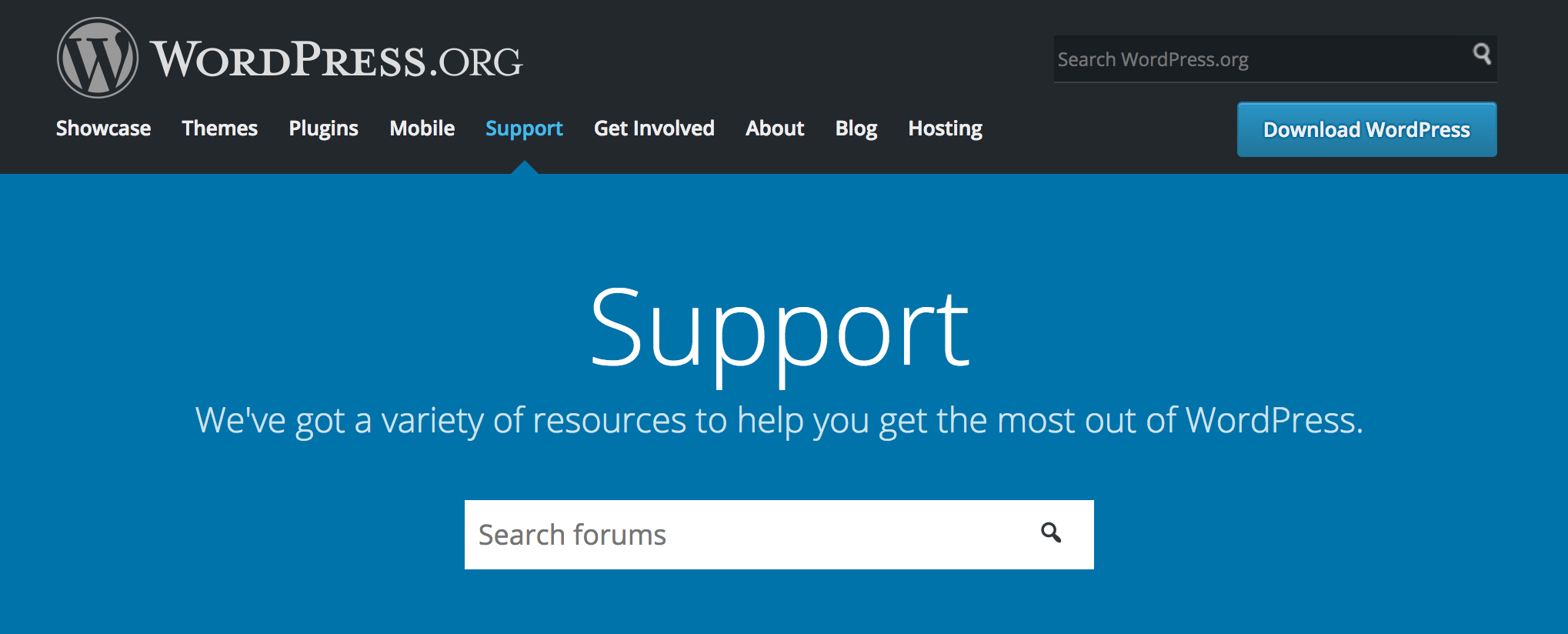 wordpress.org support knowledge base
