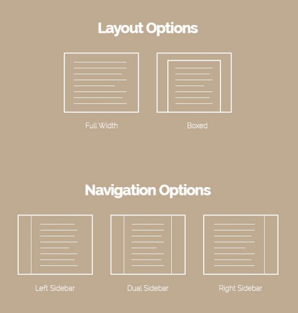 Architect WordPress Theme - Layout and Navigation Options