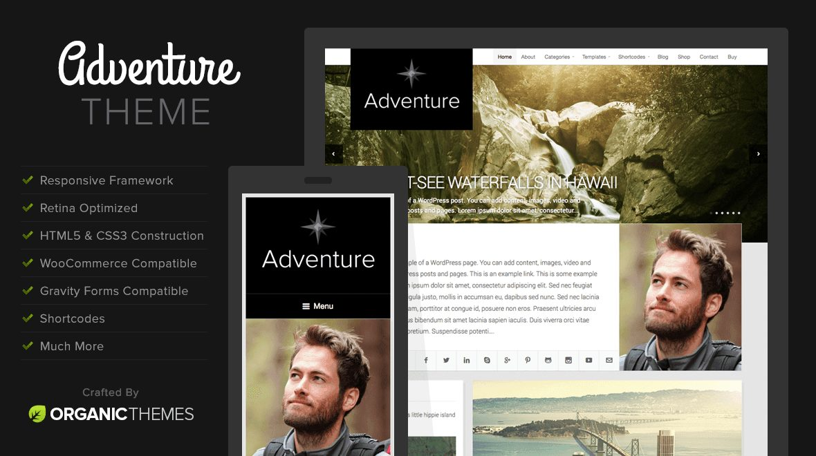 Adventure - Travel WordPress Theme