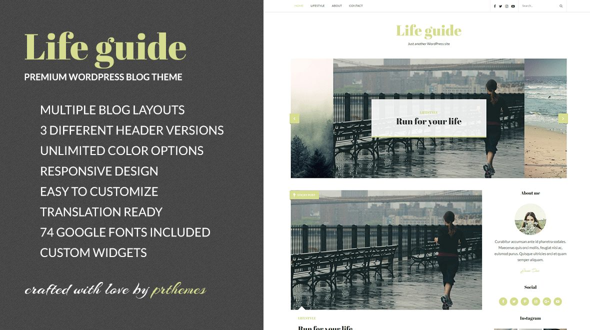 Life guide beginner WordPress theme