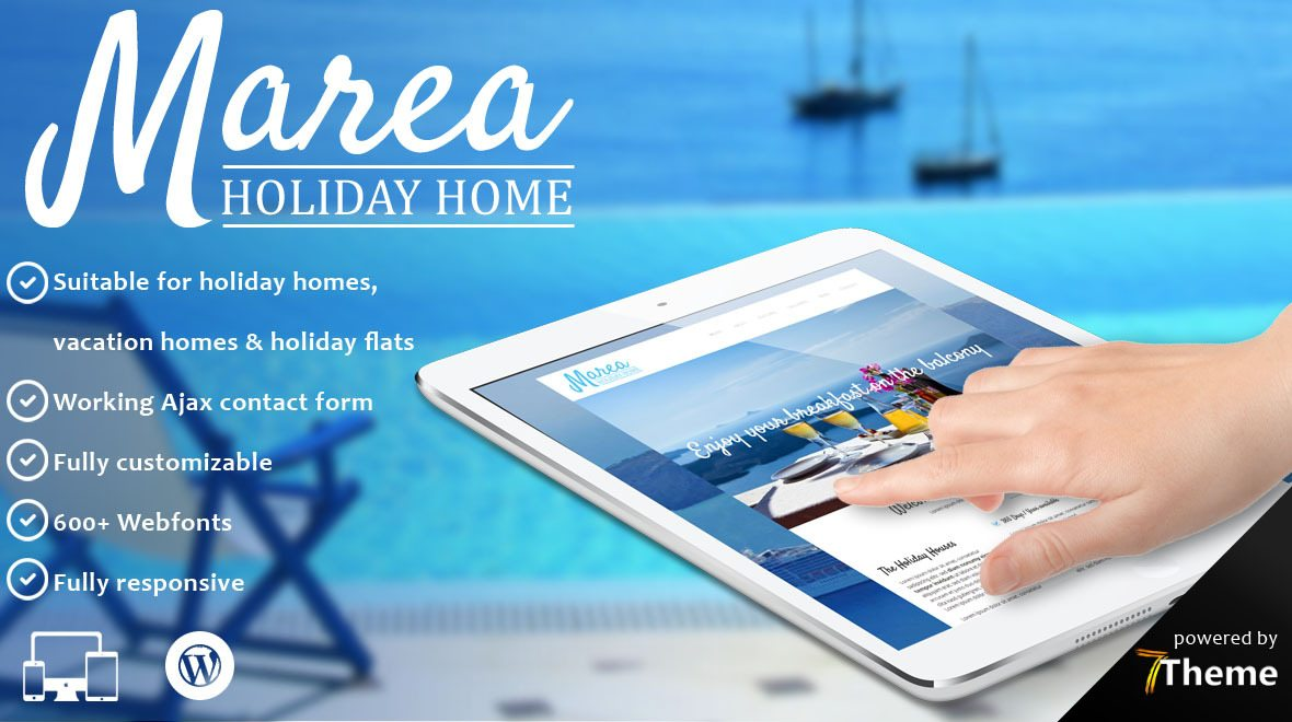 Marea - Hotel and Travel WordPress Theme