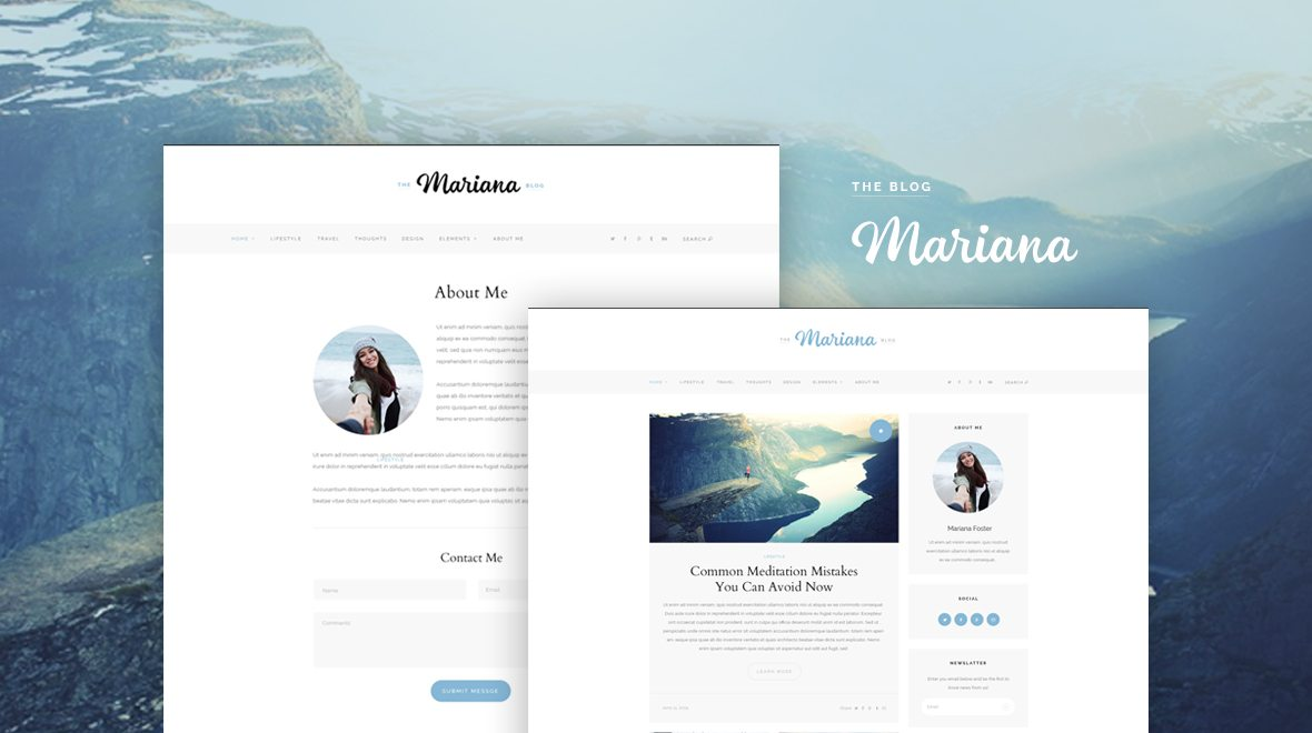 Mariana - Lifestyle and Travel Blogging WordPress Theme