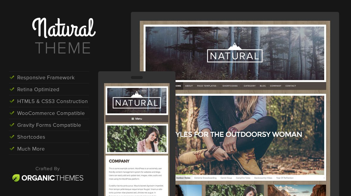 natural beginner business wordpress theme