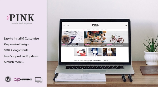 Pink beginner WordPress theme