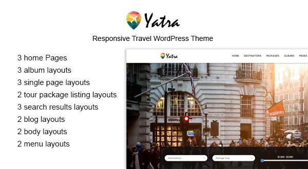 Yatra - Travel/Tour WordPress Theme