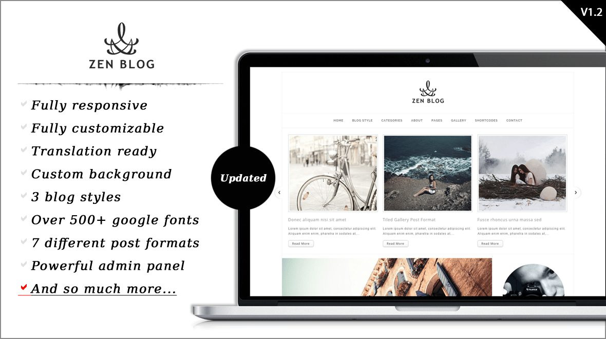 Zen Blog WordPress Blogging Theme