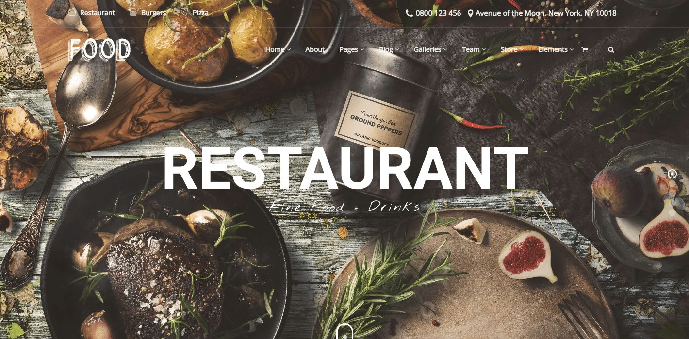 Food WordPress theme for food, drink, restaurant, foodie, and bar websites - MOJO Marketplace
