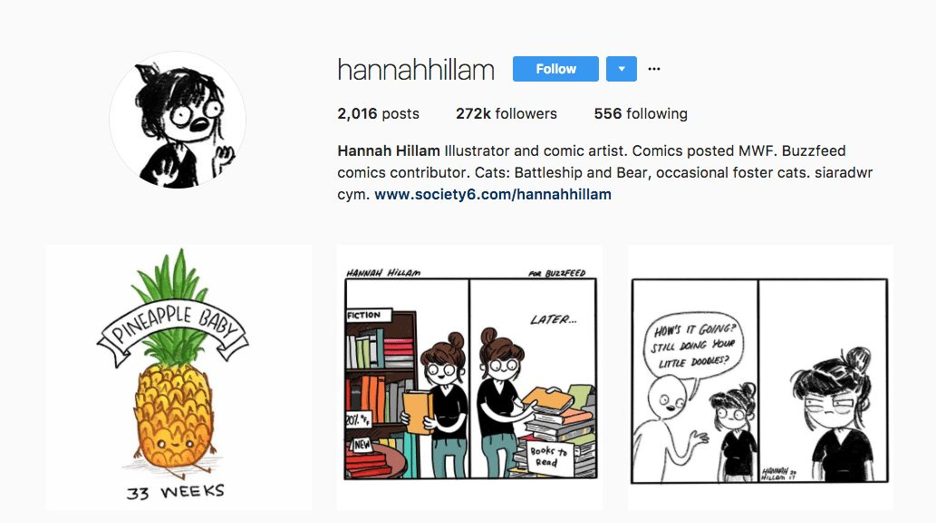 Hannah Hillam - Illustrator and Comic Writer
