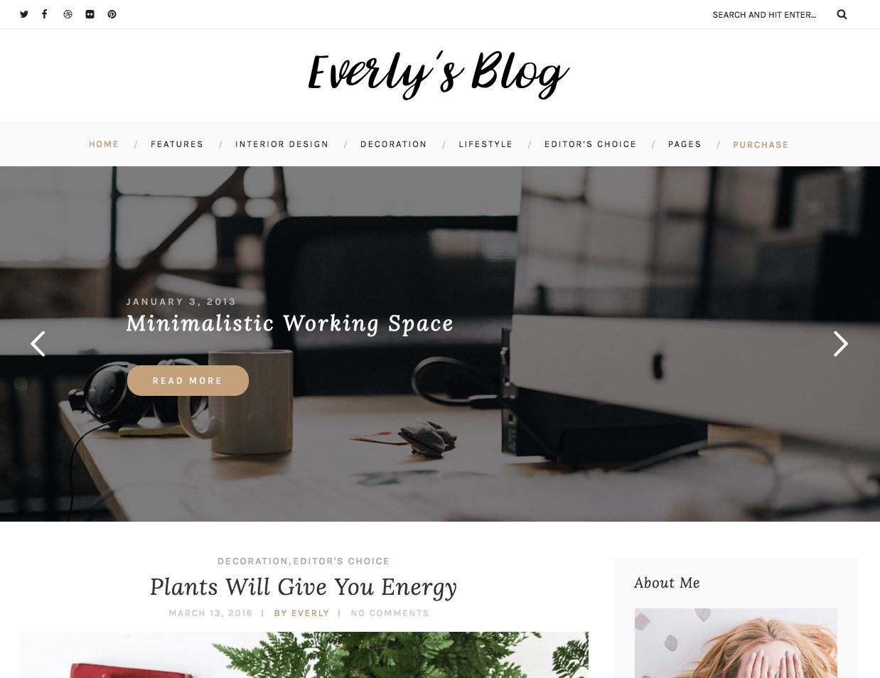 Premium Coding Everly Minimalist WordPress Blogging Theme - MOJO Marketplace