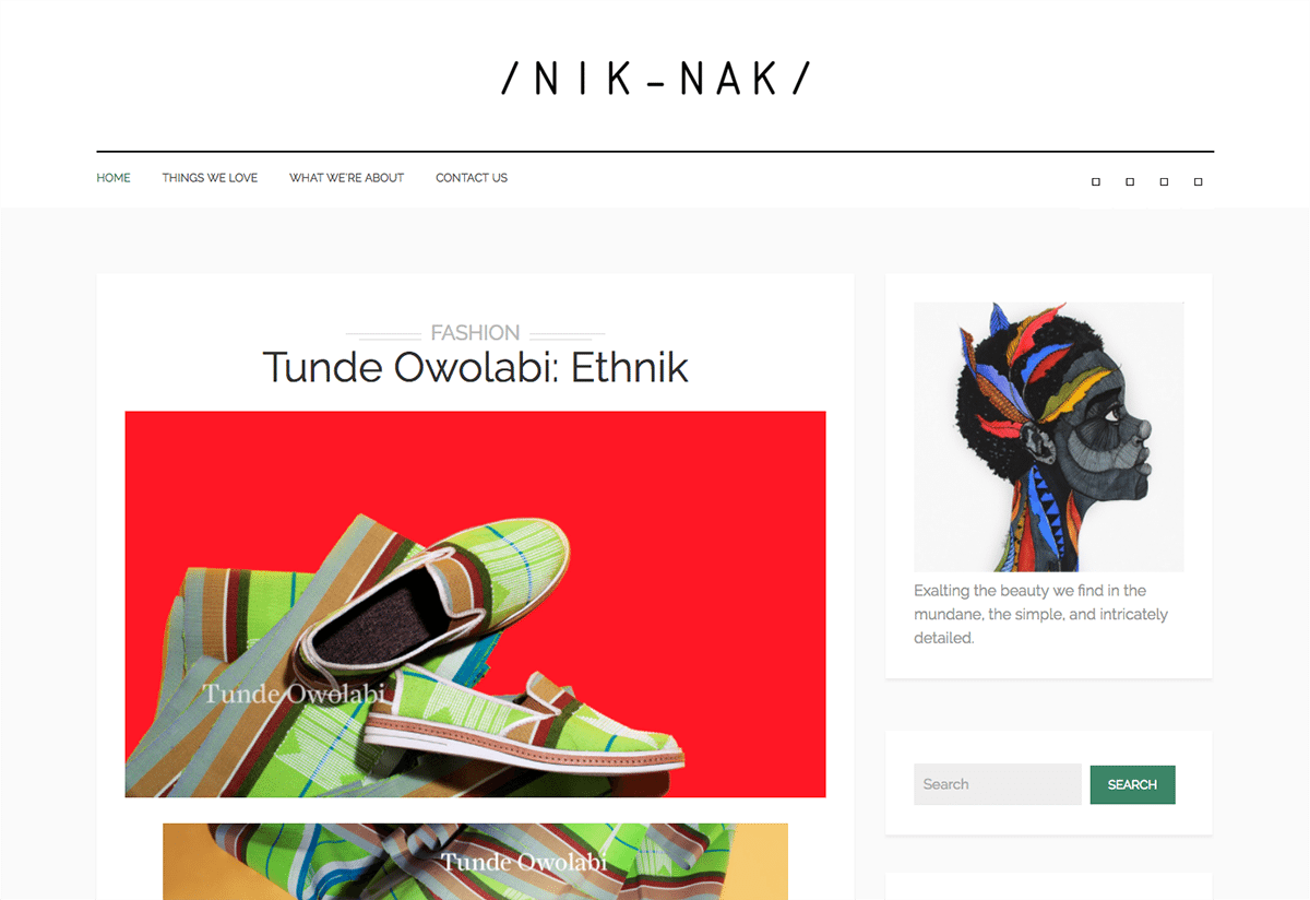 nik nak created with the britonic blog and shop wordpress theme
