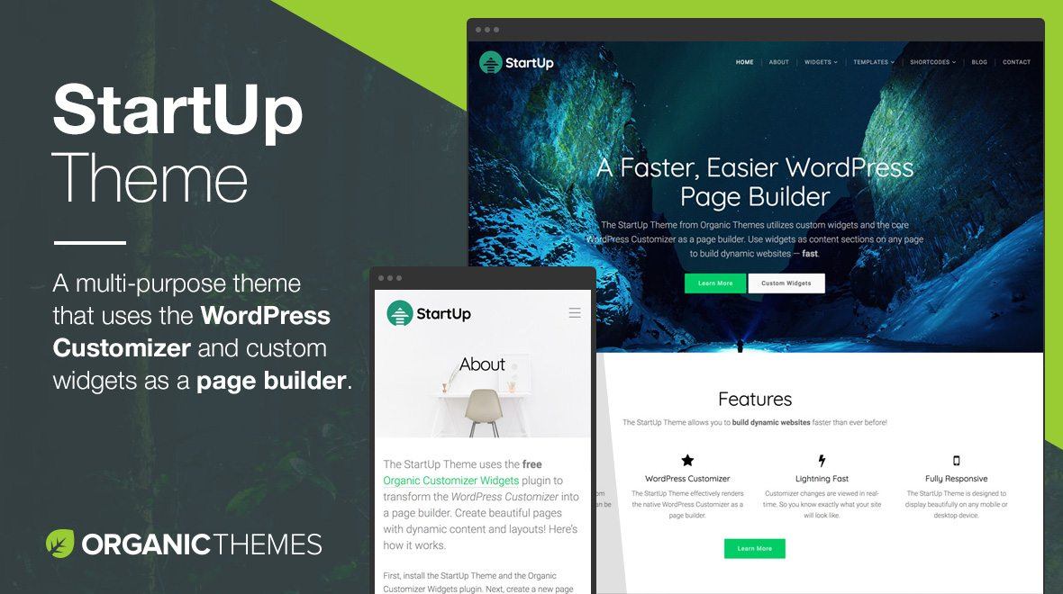 StartUp WordPress Theme - The Best Page Builder Ever Made for WordPress