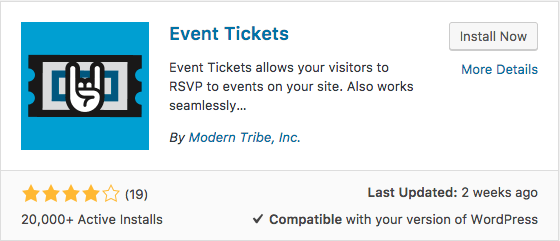 the event tickets plugin has less active installs than the Akismet plugin, however, this is more of a niche plugin, so 20,000 installs is a great indicator of quality