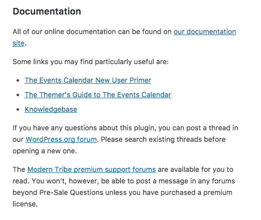 You can find documentation and support links in the plugin details area when you search through your WordPress dashboard