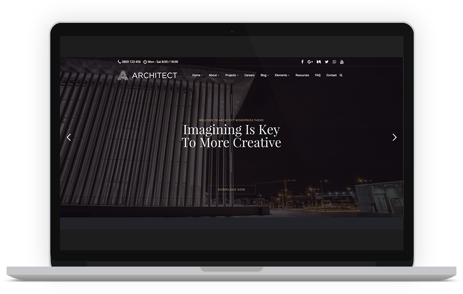 The Architect Industrial WordPress theme - MOJO Marketplace
