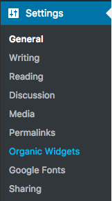 you can also access plugin settings from the settings panel in the wordpress admin dashboard