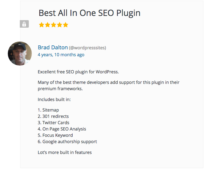 here's an example of a specific, useful review of the Yoast SEO Plugin