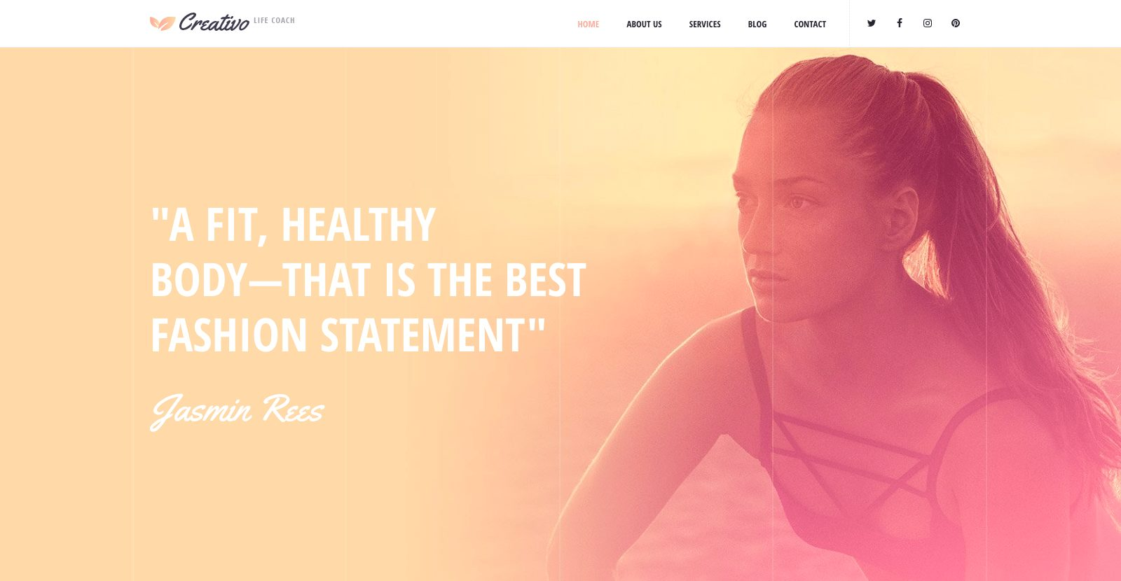 Creativo Template - Life Coach WordPress Theme