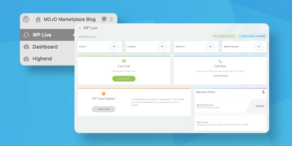 WP Live Plugin Dashboard