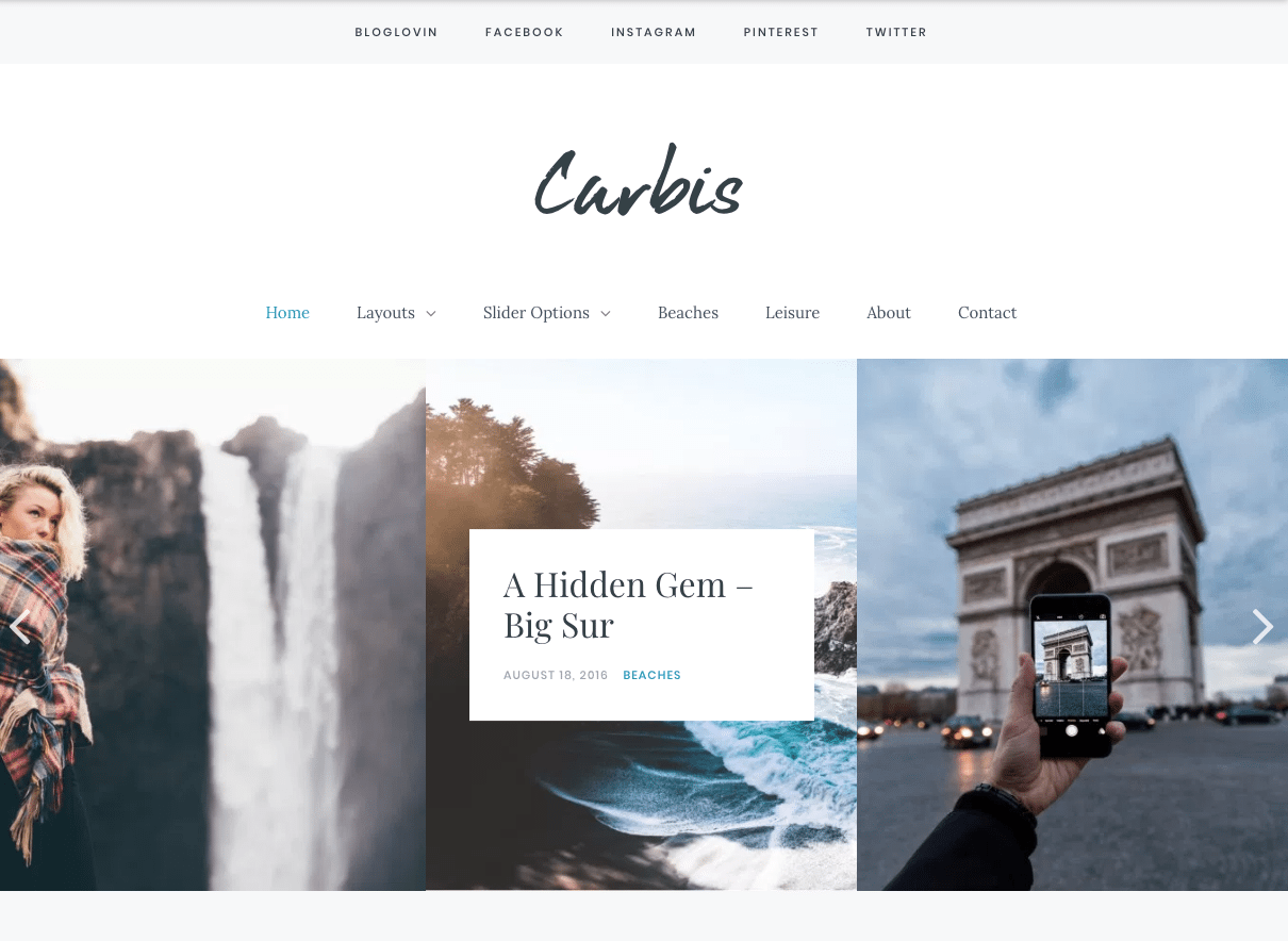 carbis wordpress blog theme