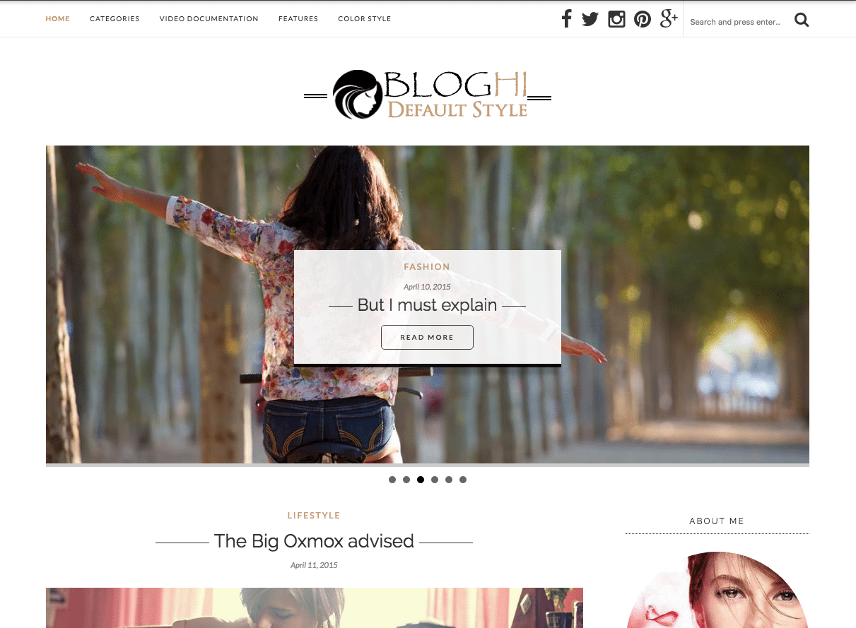 bloghi blogging wordpress theme