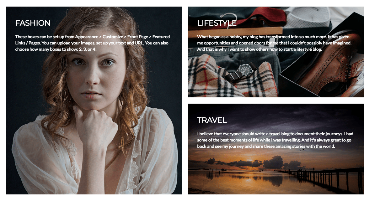 juliette wordpress blogging theme category display style